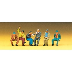 Preiser 10097 Figurines HO 1/87 Seated Persons