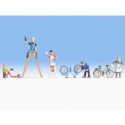 Preiser 10245 Figurines HO 1/87 Personnel de Manœuvre - Railway shunters