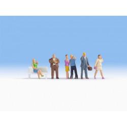 Preiser 10338 Figurines HO 1/87 Construction Workers Having a Break