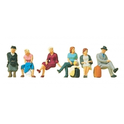 Preiser 10506 Figurines HO 1/87 Seated Passengers
