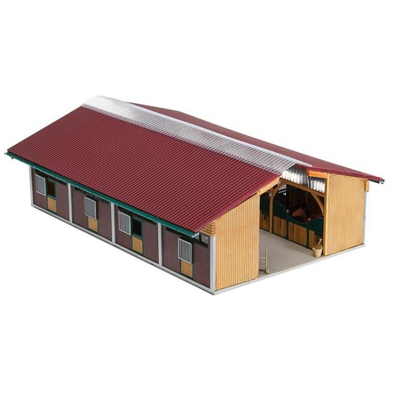 Faller 130541 Roofed Stable HO Scale Building Kit