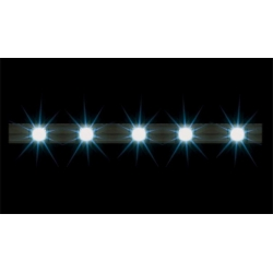 Faller 180648 HO 1/87 2 Rampes d'éclairage à LED, blanc - 2 LED bar spotlights, white