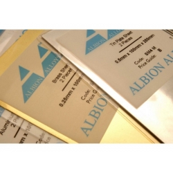 ALBION ALLOYS SM7M Brass Sheet 100 mm x 250 mm x 0,4mm 1p