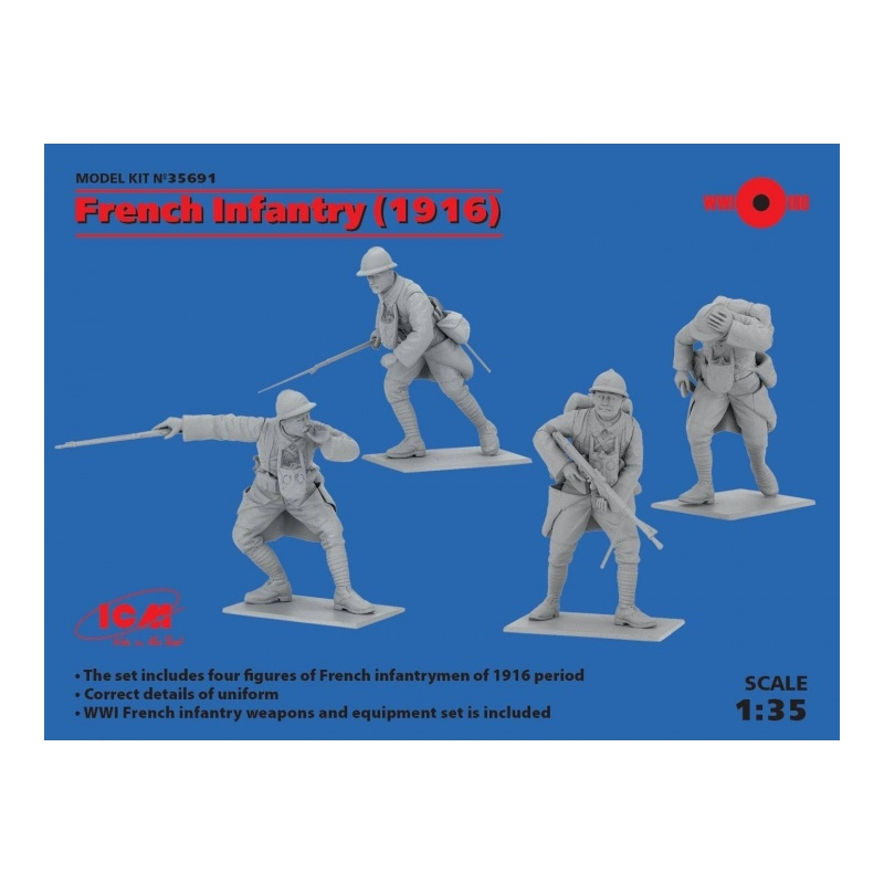 ICM 35691 1/35 French Infantry (1916)