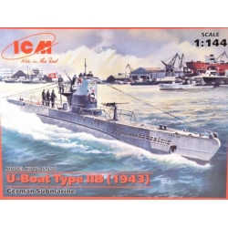 ICM S.010 1/144 U-Boat Type IIB (1943) German Submarine