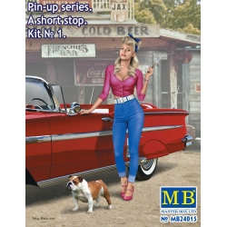 "MasterBox MB24015 1/24 Pin-up series. ""A short stop"". Kit No. 1"