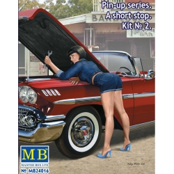 "MasterBox MB24016 1/24 Pin-up series. ""A short stop"". Kit No. 2"