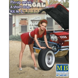 "MasterBox MB24017 1/24 Pin-up series. ""A short stop"". Kit No. 3"