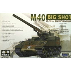AFV Club AF35031 1/35 M40 Big Shot U.S. 155mm Gun Motor Carriage