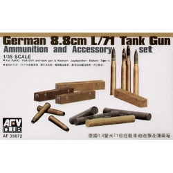 AFV Club AF35072 1/35 German 8,8cm L/71 Tank Gun Ammunition and Accessory