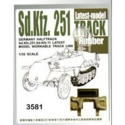 AFV Club AF35081 1/35 German Halftrack Sd.Kfz. 251, Sd.Kfz. 11 Workable Track