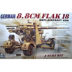 AFV Club AF35088 1/35 German 8.8 cm FLAK 18 Anti-Aircraft Gun