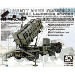 AFV Club AF35S87 1/35 HEMTT M983 Tractor & M901 Launcher Station PAC-2