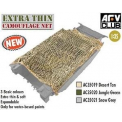 AFV Club AFAC35021 1/35 Extra Thin Camouflage Net (Snow Grey)