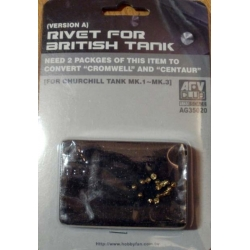 AFV Club AG35020 1/35 Rivet For Churchill Tank Mk1-Mk3