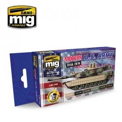 AMMO OF MIG A.MIG-7159 Modern USA Army Colors 6x17ml