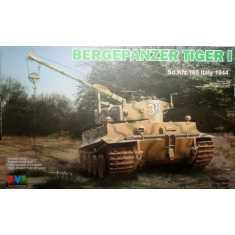 Rye Field Model RM-5008 1/35 Bergenpanzer Tiger I Sd.Kfz.185 Italy 1944