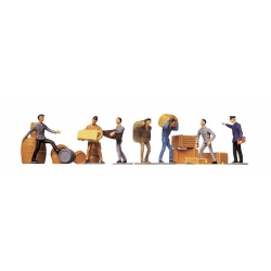 Faller 151001 HO 1/87 Manutentionnaires et marchandises - Workers and freight