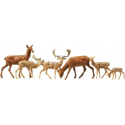 Faller 154007 HO 1/87 Daims + cerf - Fallow deer + red deer, 12 pieces