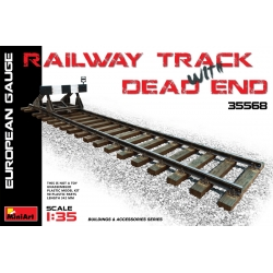 Miniart 35568 1/35 Railway Track With Dead End