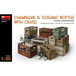 Miniart 35575 1/35 Champagne And Cognac Bottles With Crates