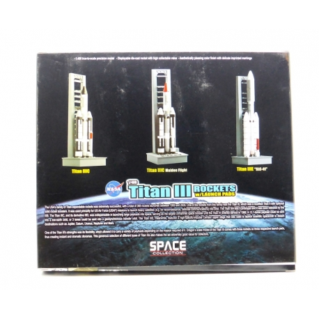 DRAGON Wings Space 56395 1/400 Titan III Rockets With Launch Pads 3pcs