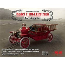 ICM 24004 1/24 Model T 1914 Firetruck American Car