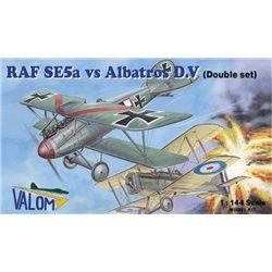 VALOM 14418 1/144 RAF SE.5a vs. Albatros D.V (Dual Combo with 2 of each kits)