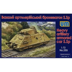 UNIMODELS 255 1/72 German Heavy Artillery Armored Car s.Sp
