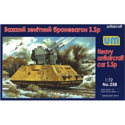 UNIMODELS 258 1/72 Heavy Antiaircraft Car S.Sp Armored