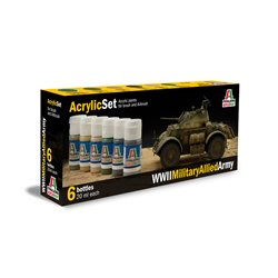 ITALERI 440AP Acrylic Set WWll Military Allied Army 6x20ml