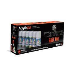 ITALERI 446AP Acrylic Set World Of Tanks Series 1 6x20ml