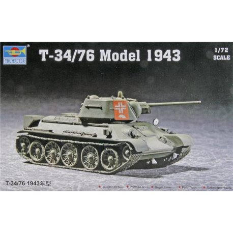 TRUMPETER 07208 1/72 T-34/76 Model 1943