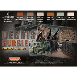 LifeColor CS31 Diorama Set Debris And rubble 6x 22ml Acrylic Colours
