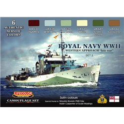 LifeColor CS34 Royal Navy WWII Western approach - Set 2 Camouflage Set