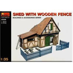 Miniart 35556 1/35 Shed with wooden fence
