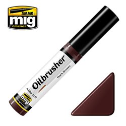 AMMO OF MIG A.MIG-3512 Oilbrusher Brun Foncé – Dark Brown