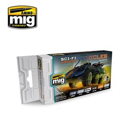 AMMO OF MIG A.MIG-7155 Sci-Fi Ground Vehicles Color Set 6x17ml