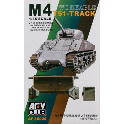 AFV CLUB AF35026 Workable M4 T51-Track (for M4 Sherman, M3 Lee)