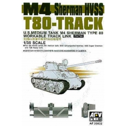 AFV CLUB AF35032 1/35 M4 Sherman HVSS T80-Track Links Steel Type (workable)