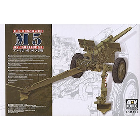 AFV Club AF35S64 U.S. 3 inch gun M5 on carriage M1