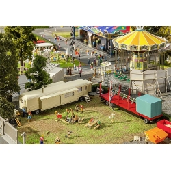 Faller 140480 HO 1/87 Set of funfair caravans I