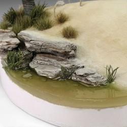 Faller 170625 HO 1/87 Plaque mur, Briques perforées en losanges avec herbe