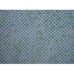 Faller 170625 HO 1/87 Wall card, Diamond perforated bricks with grass