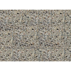 Faller 170626 HO 1/87 Wall card, Exposed aggregate concrete