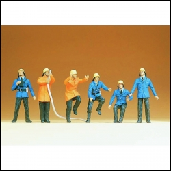 Preiser 14200 Figurines HO 1/87 Pompiers - Firemen