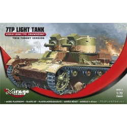 MIRAGE HOBBY 726002 1/72 LIGHT TANK 7TP TANK / TWIN TURRET