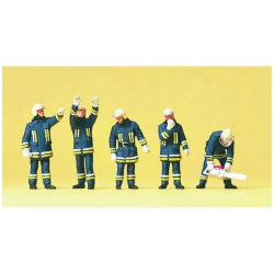 Preiser 10486 HO 1/87 Pompiers, Support Technique - Firemen. Technical support