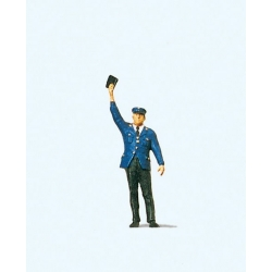 Preiser 28000 HO 1/87 Cheminot - Conductor with Arm Raised