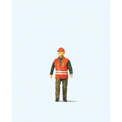 Preiser 28008 HO 1/87 Aiguilleur - Modern Switchman with Safety Vest